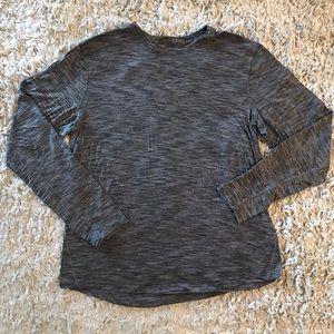 Men's Lululemon ls t shirt size large grey heather